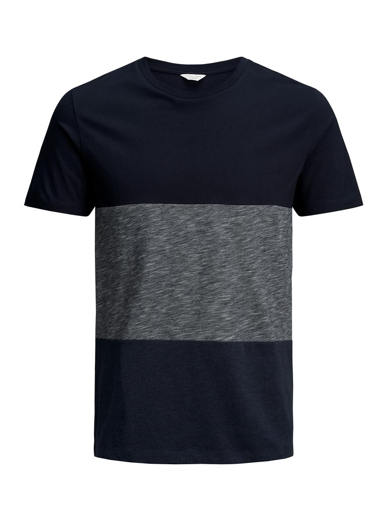 Tmavě modré žíhané tričko Jack & Jones Deep