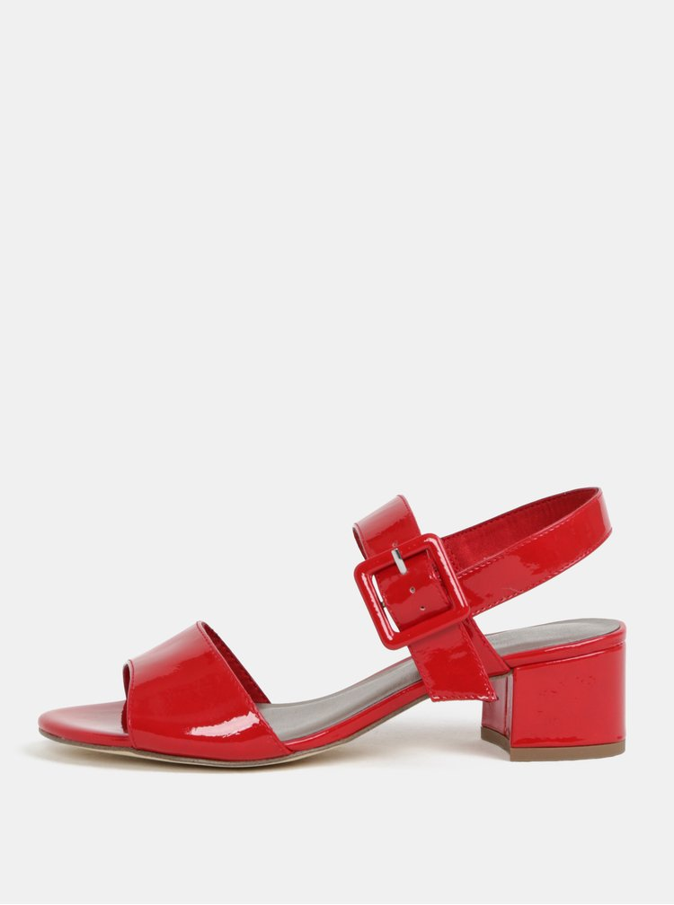 Červené sandálky na podpatku Tamaris