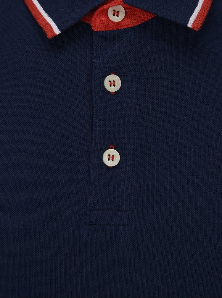 Tmavě modré polo tričko Jack & Jones Paulos Play