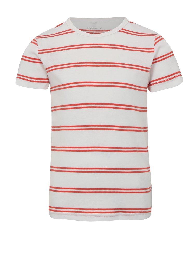 Červeno-bílé klučičí pruhované tričko name it Villy