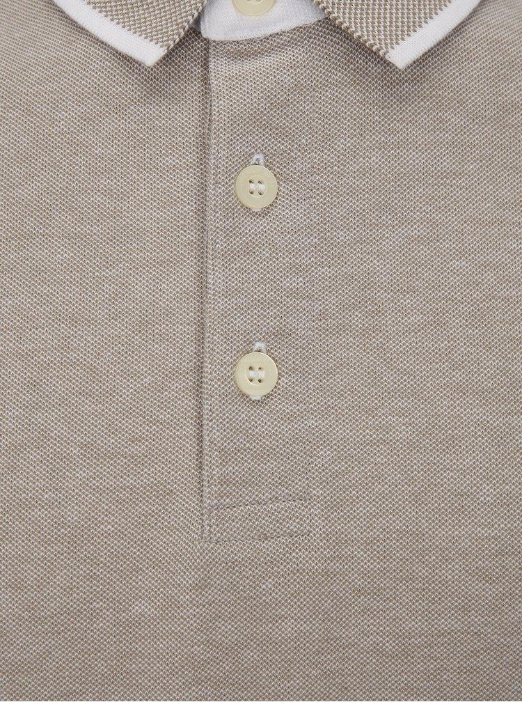 Béžové polo tričko Jack & Jones Paulos