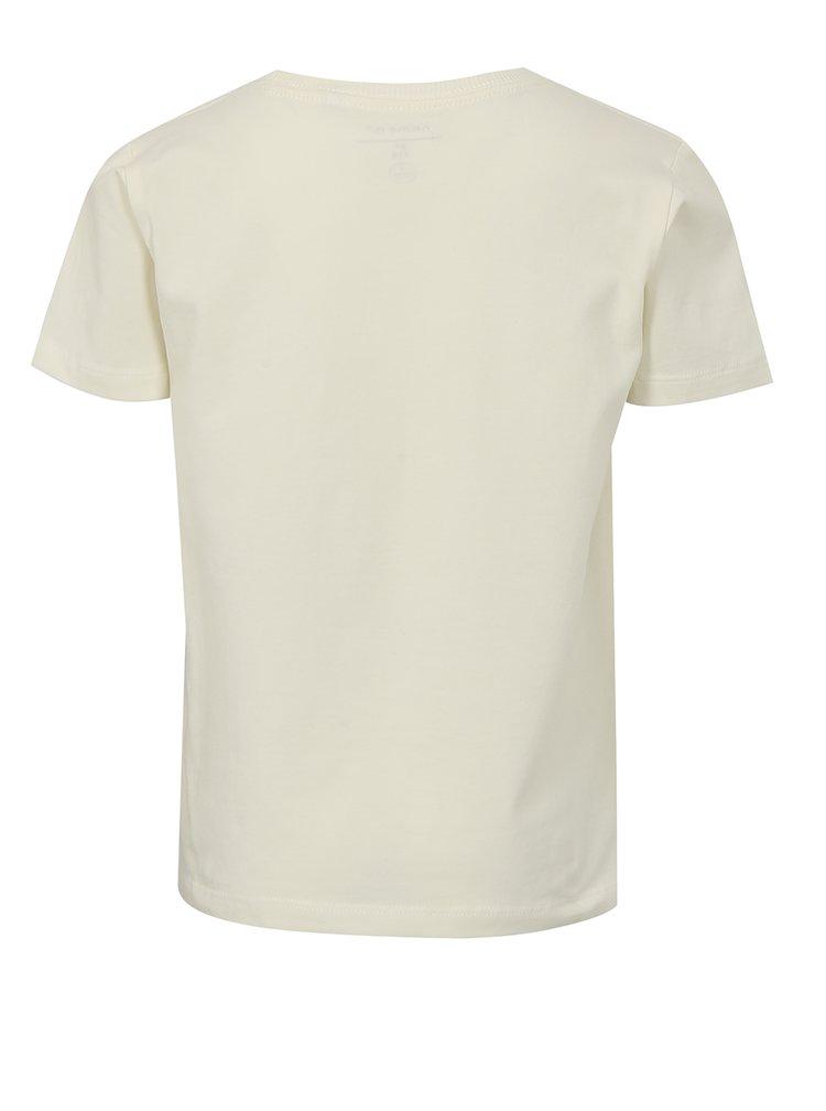Krémové klučičí tričko s potiskem name it Jobo