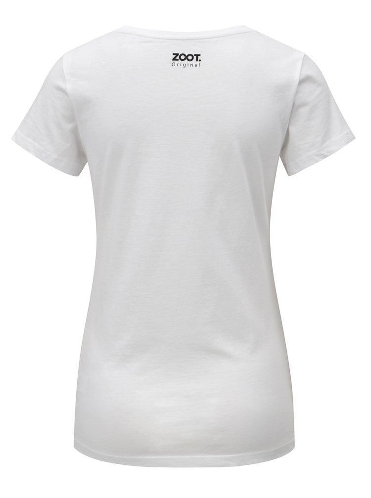 Bílé dámské tričko s potiskem ZOOT Mrs