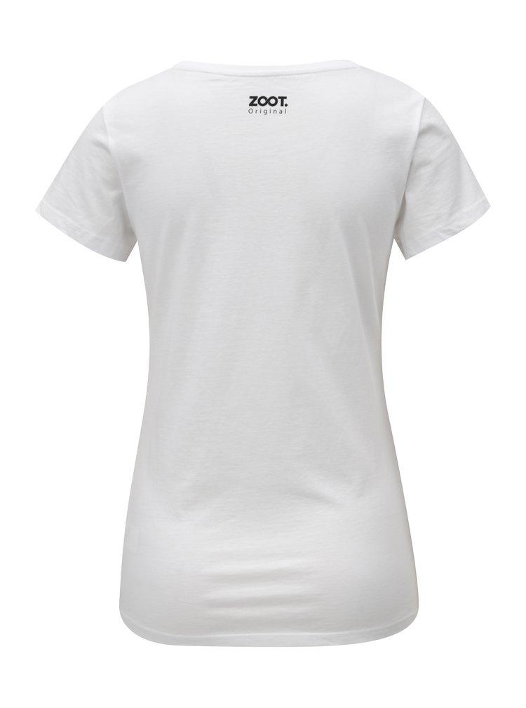 Bílé dámské tričko s potiskem ZOOT Marriage