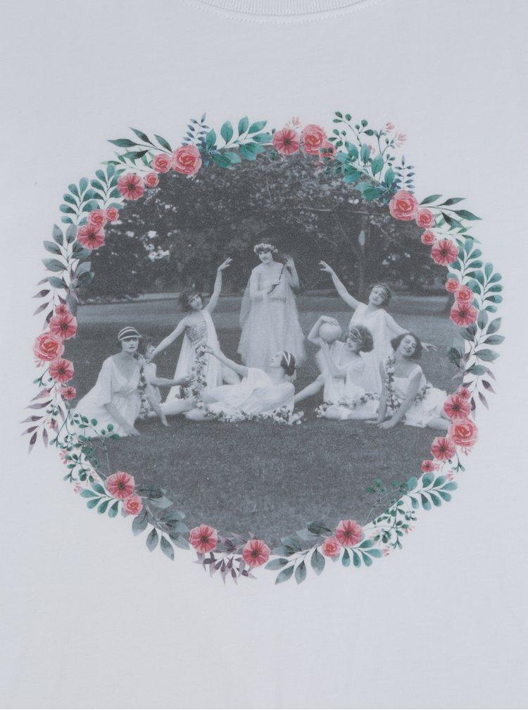 Tricou de dama alb cu print ZOOT Petrecerea