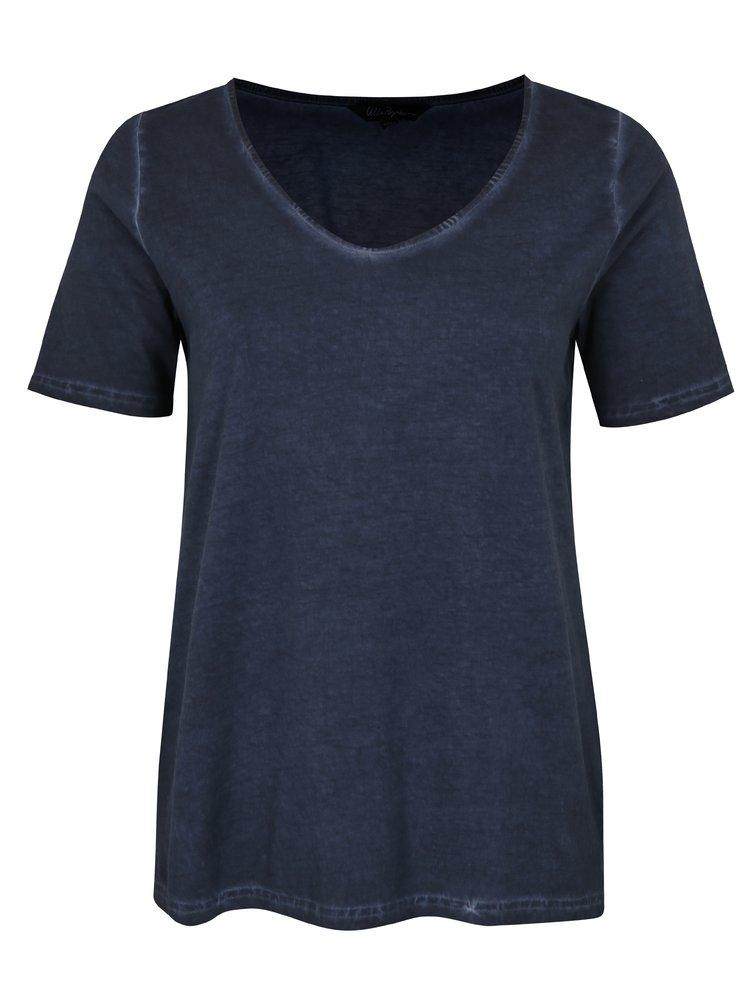 Tmavě modré basic tričko Ulla Popken