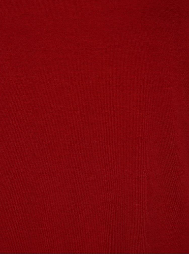Červené tričko s průstřihem Ulla Popken