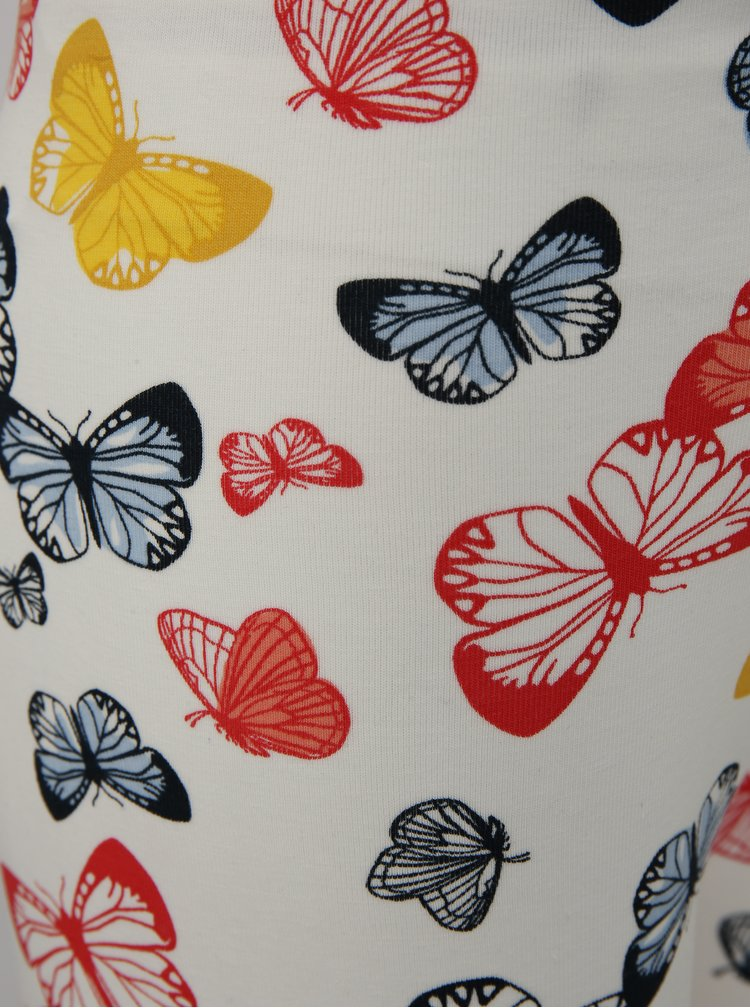 Bílé holčičí legíny s motivem motýlů name it Vigga