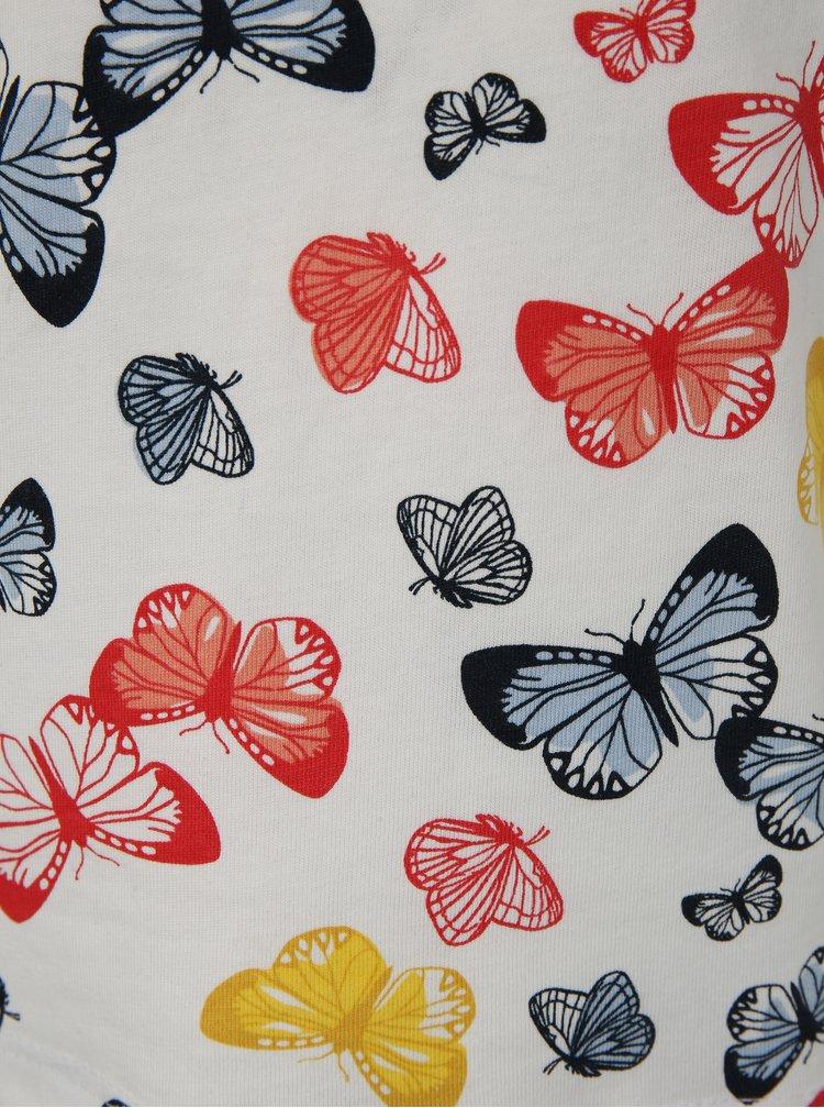 Bílé holčičí tričko s motivem motýlů name it Vigga