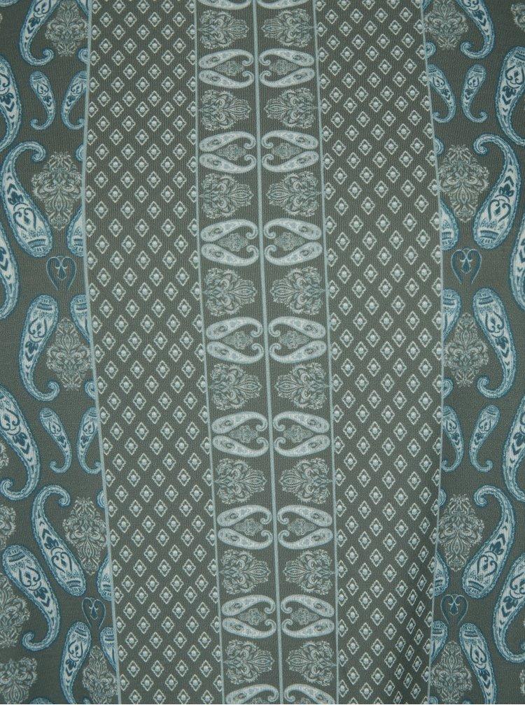 Modro-khaki vzorovaný top Ulla Popken