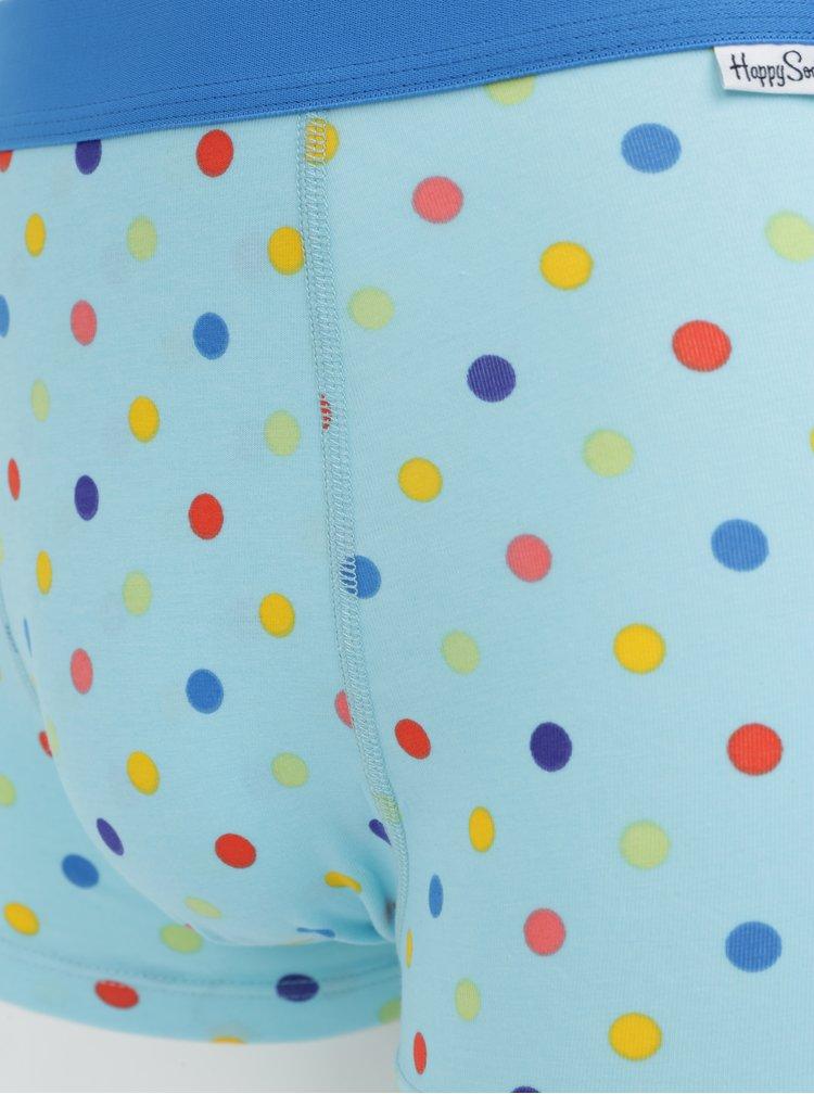 Modré puntíkované boxerky Happy Socks Dot