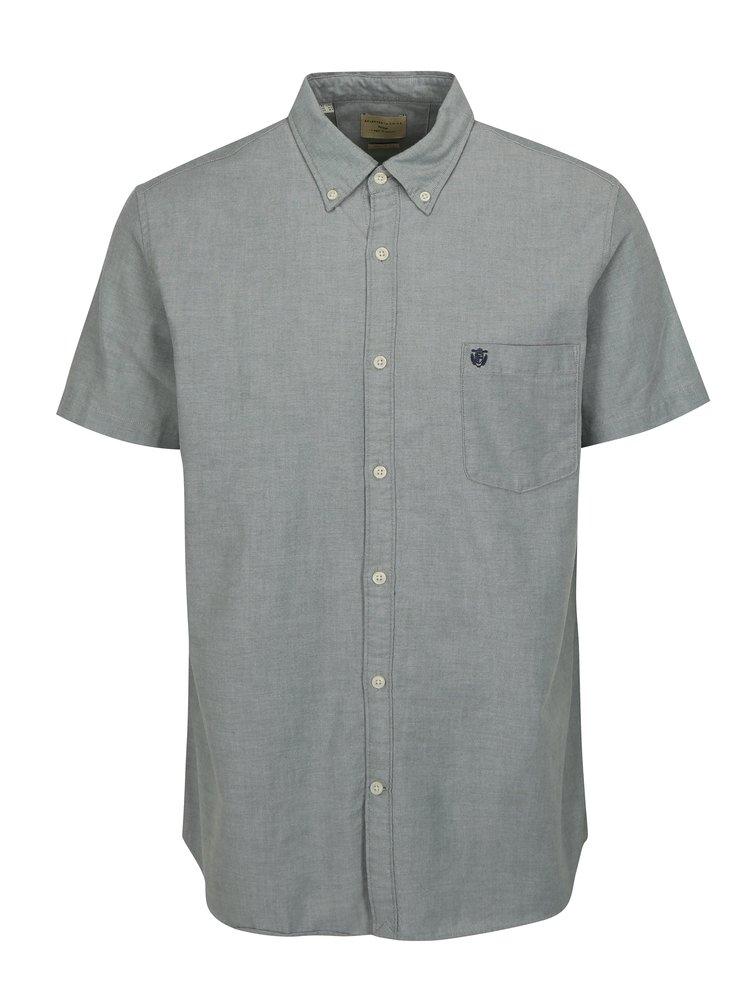 Šedo-zelená košile s krátkým rukávem Selected Homme Collect