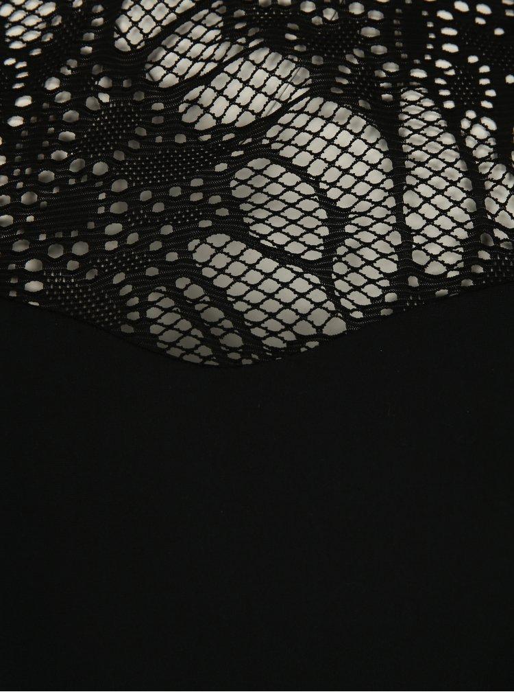 Černé jednodílné plavky s krajkou Ulla Popken