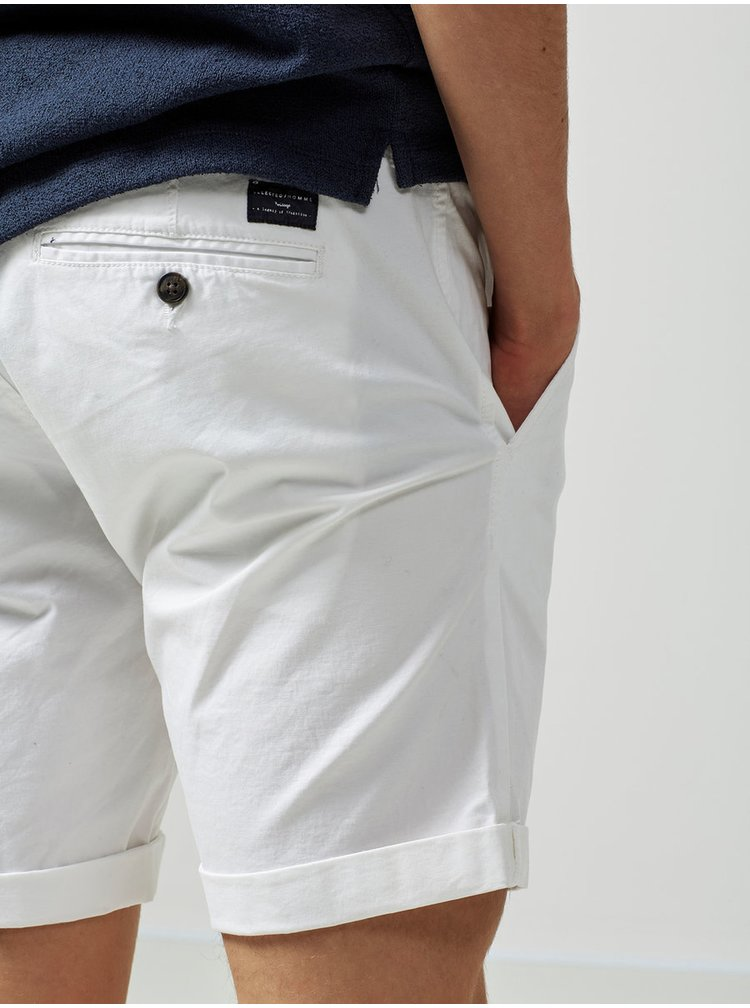 Pantaloni scurti albi straight Selected Homme Paris