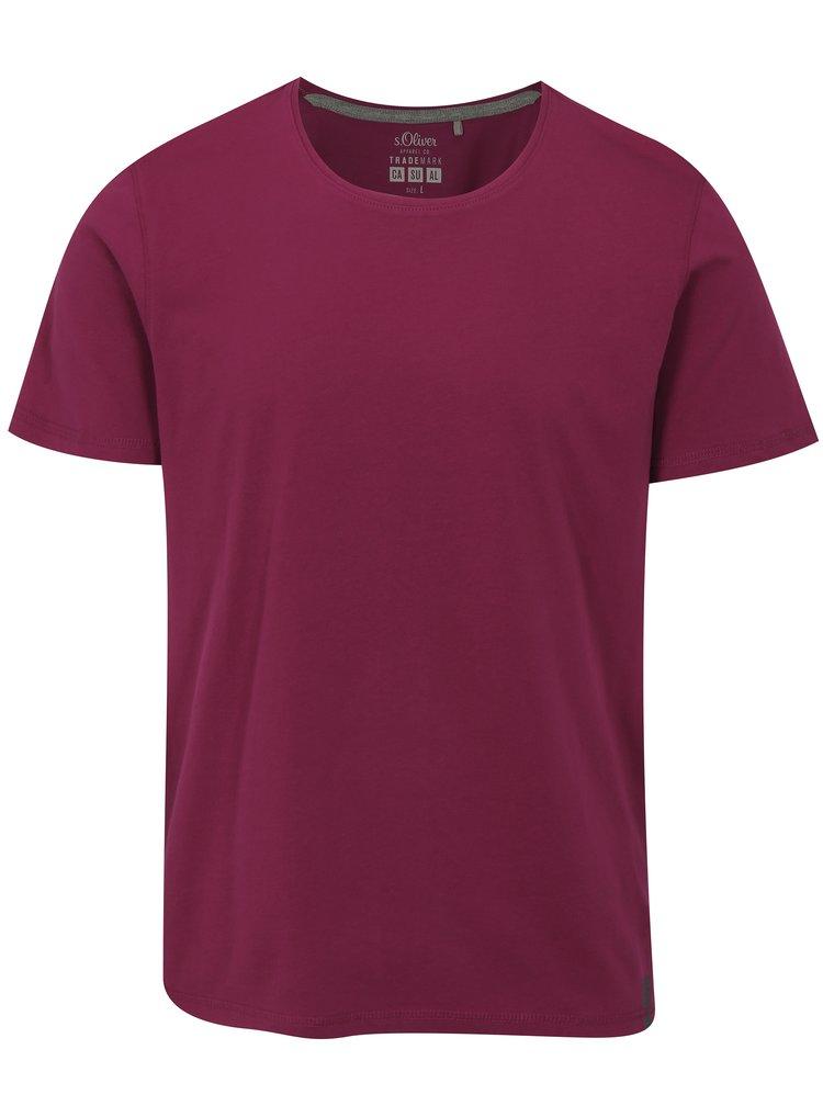 Tricou barbatesc roz inchis regular fit s.Oliver