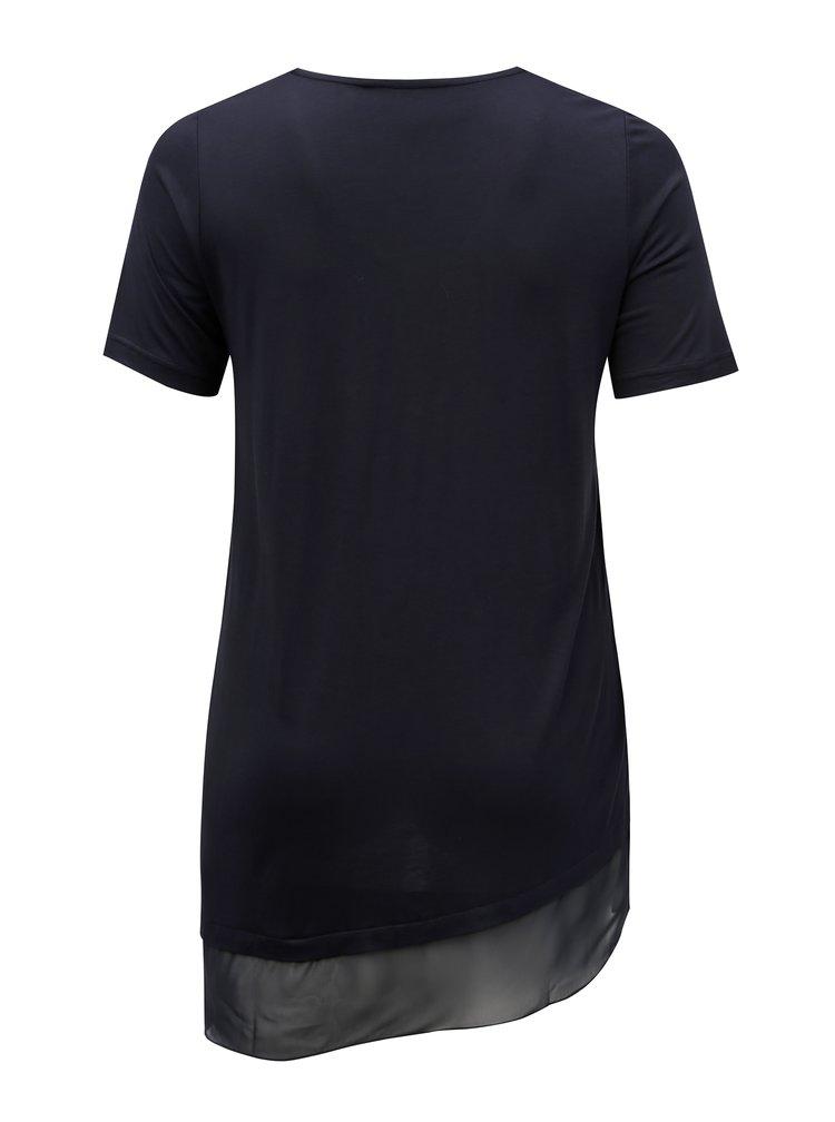Tmavě modré asymetrické tričko Ulla Popken
