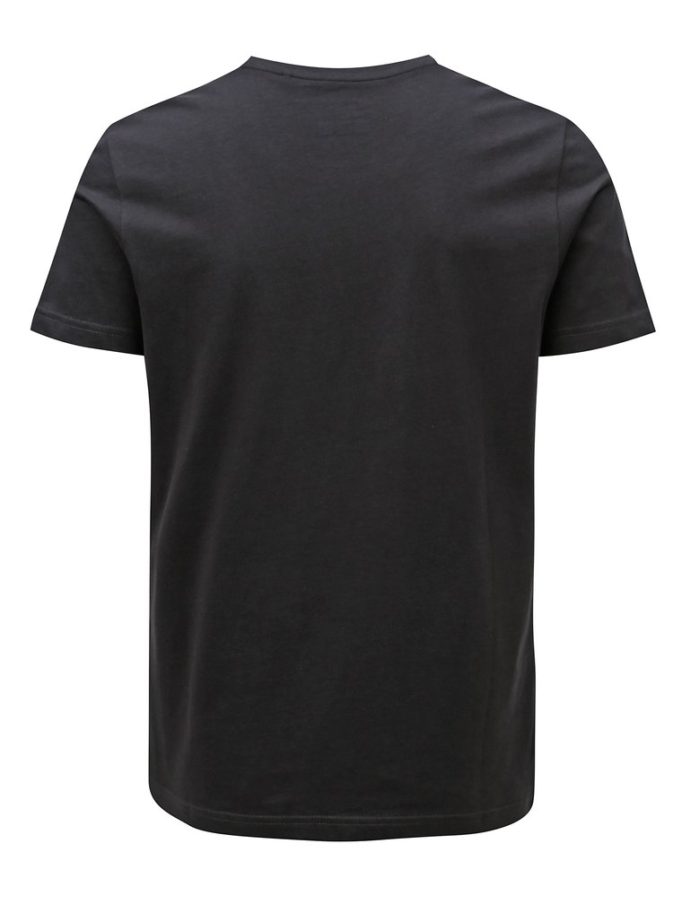 Tricou barbatesc gri inchis cu print s.Oliver