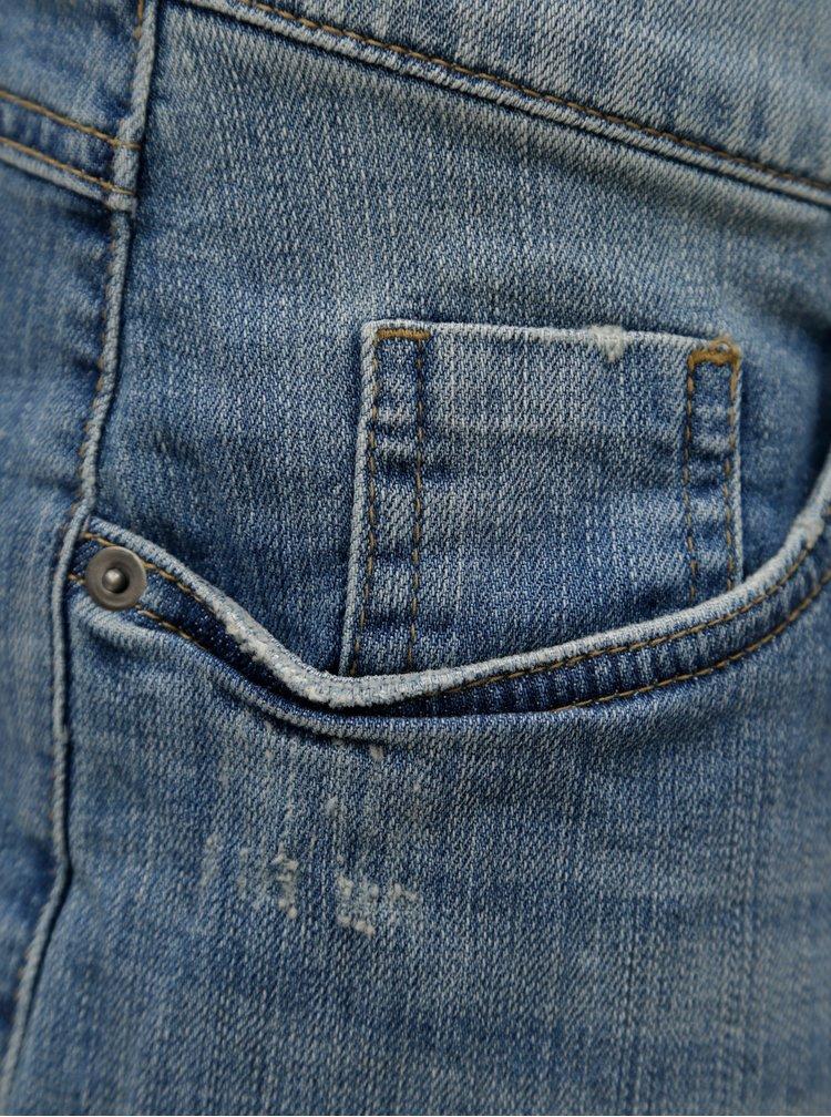 Modré džínové kraťasy s nezakončenými lemy Ulla Popken