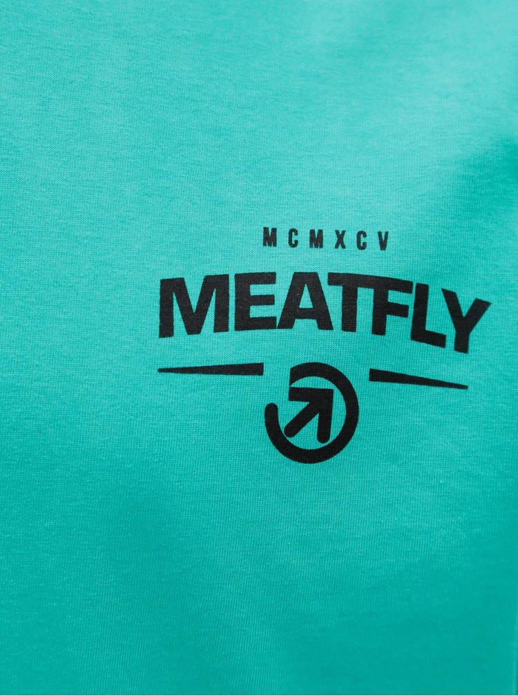 Bielo-modré pánske tričko MEATFLY Spill