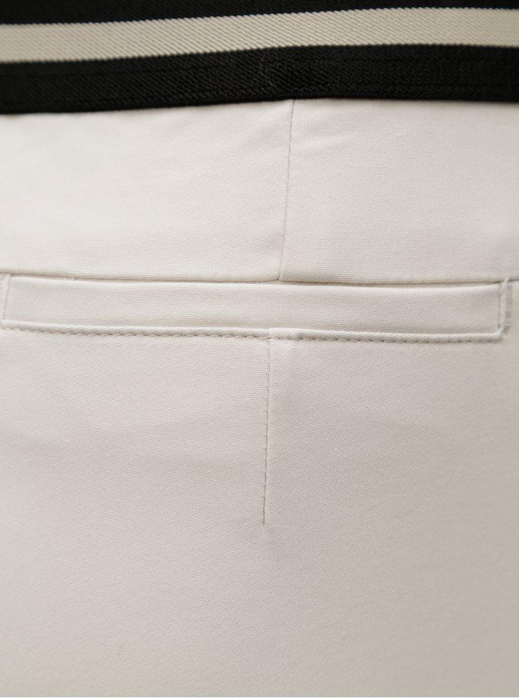 Krémové slim kalhoty s gumou v pase Ulla Popken
