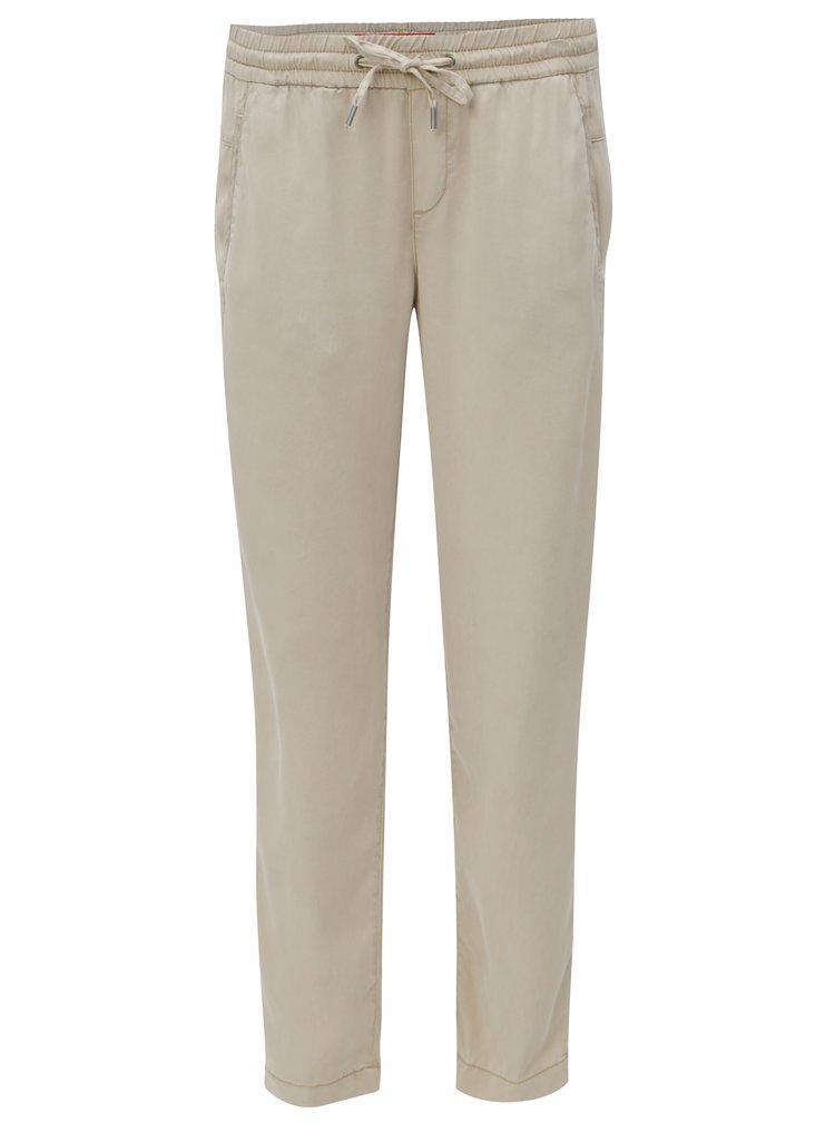 Béžové dámské volné kalhoty s.Oliver