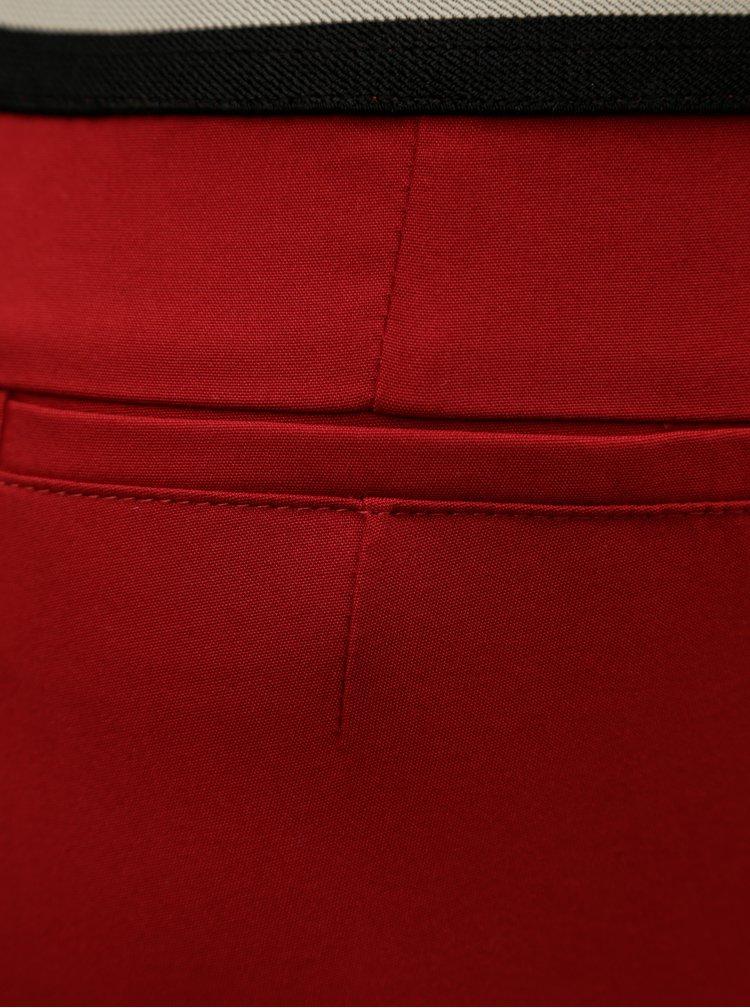 Červené slim kalhoty s gumou v pase Ulla Popken