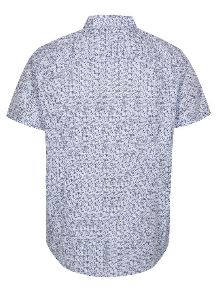 Bílo-modrá vzorovaná košile Burton Menswear London