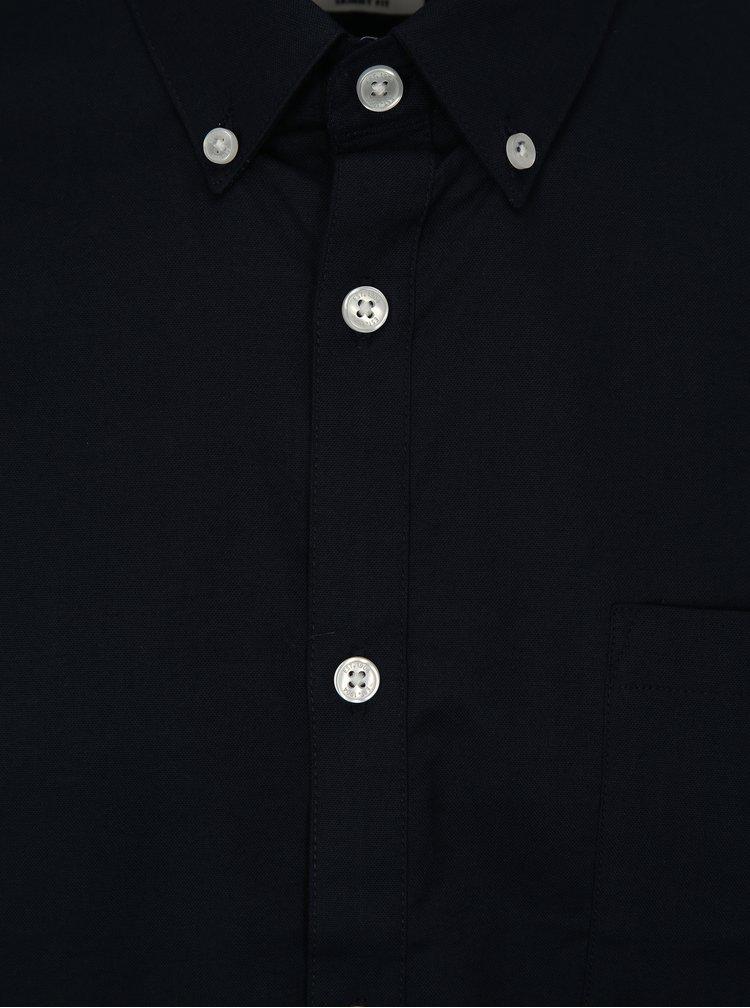 Tmavě modrá skinny fit košile s krátkým rukávem Burton Menswear London