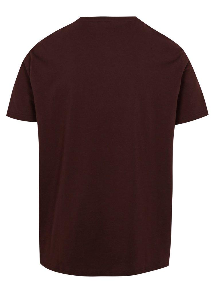 Sada tří triček s knoflíčky v bílé, vínové a černé barvě Burton Menswear London