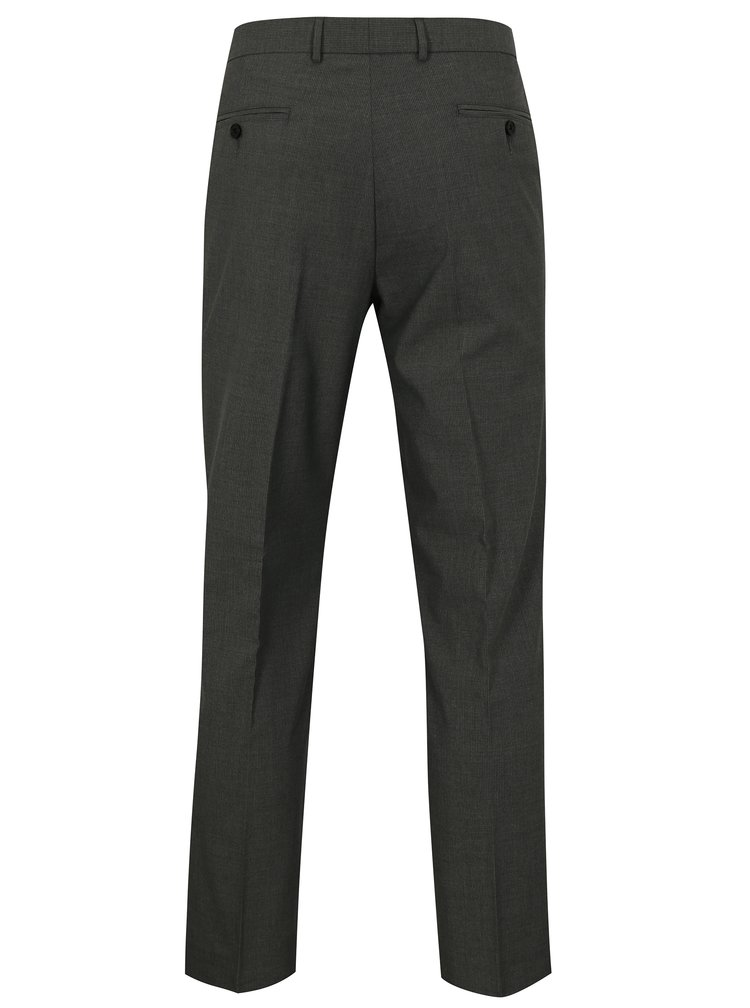 Pantaloni gri inchis slim fit Burton Menswear London