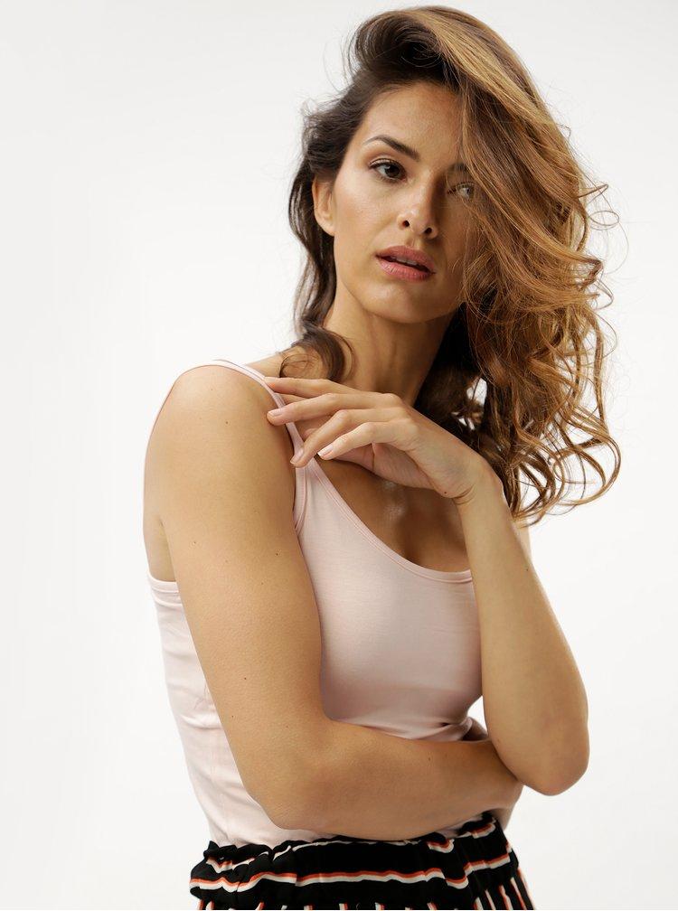 Světle růžové dámské tílko s pásky na zádech M&Co