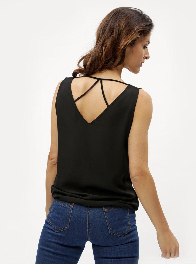 Černé dámské tílko s pásky na zádech M&Co Sless