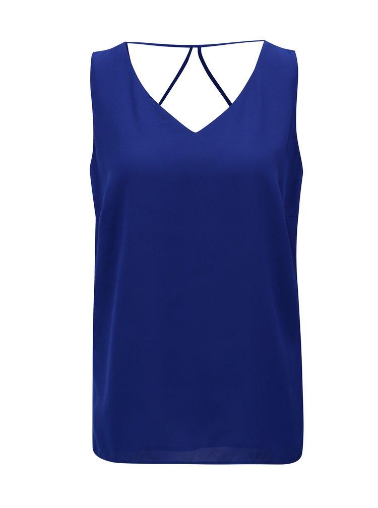Tmavě modré dámské tílko s pásky na zádech M&Co