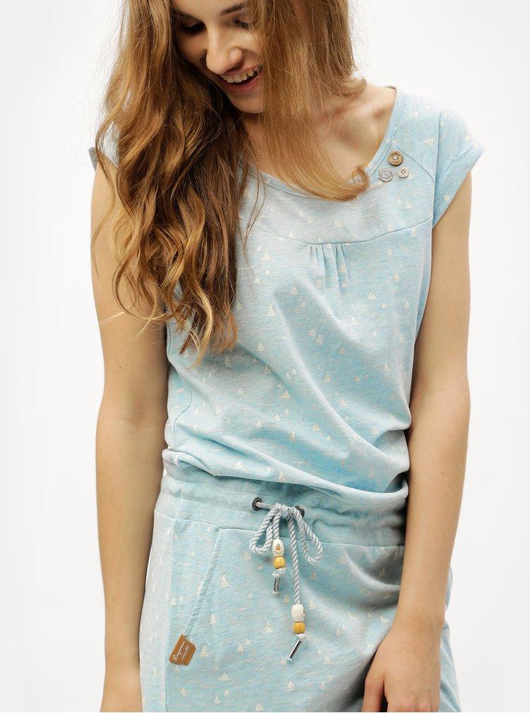 Světle modré vzorované šaty Ragwear Penelope
