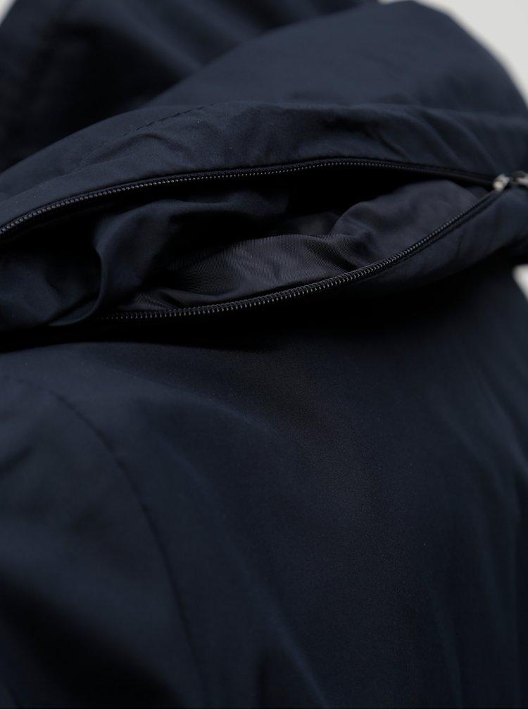 Tmavě modrá voděodolná parka se skrytou kapucí Ulla Popken