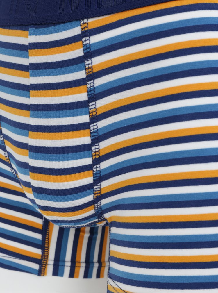 Sada tří pruhovaných boxerek v bílo-modré barvě Burton Menswear London