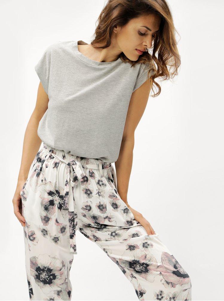 Bílé vzorované kalhoty DKNY