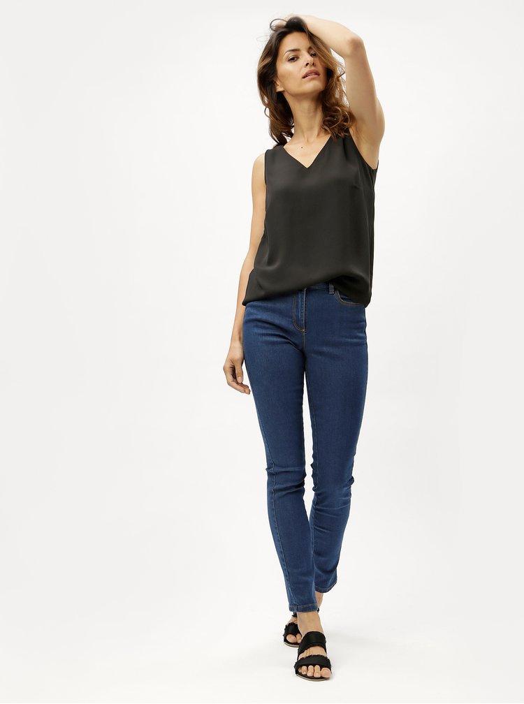 Tmavě modré dámské straight džíny M&Co