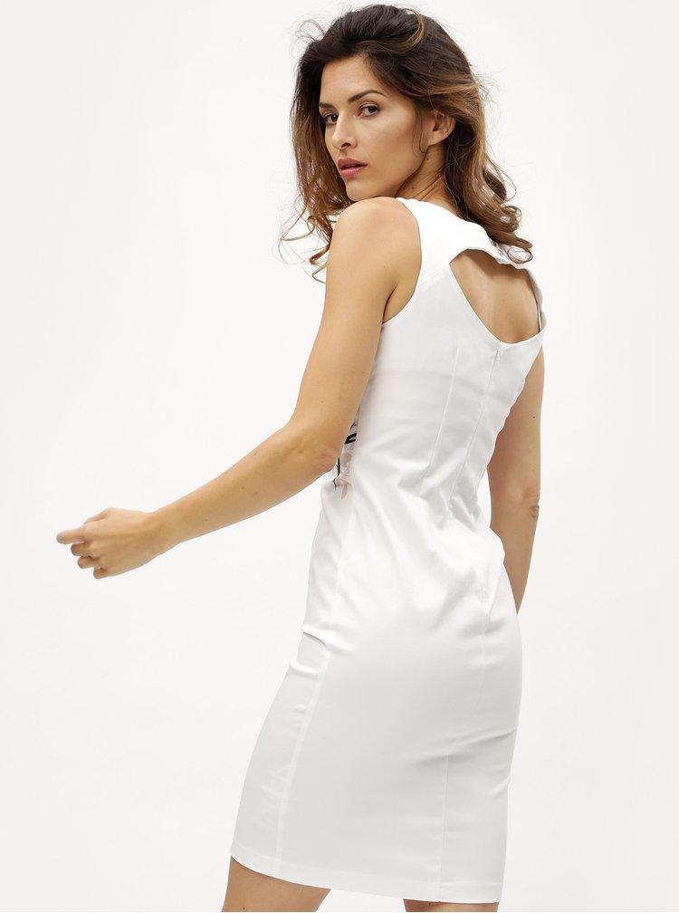 Bílé květované pouzdrové šaty M&Co Oriantal