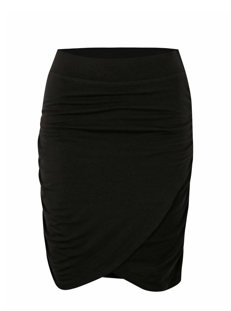 Černá sukně s řasením VERO MODA Denia