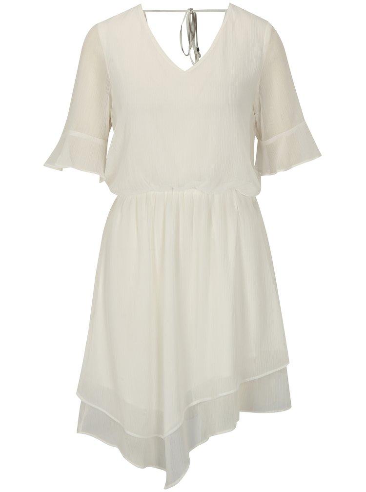 Bílé asymetrické šaty VERO MODA Sarah