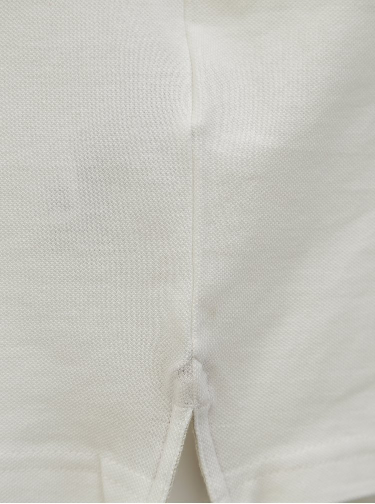 Krémové polo tričko s logem Jack & Jones Retro Jack