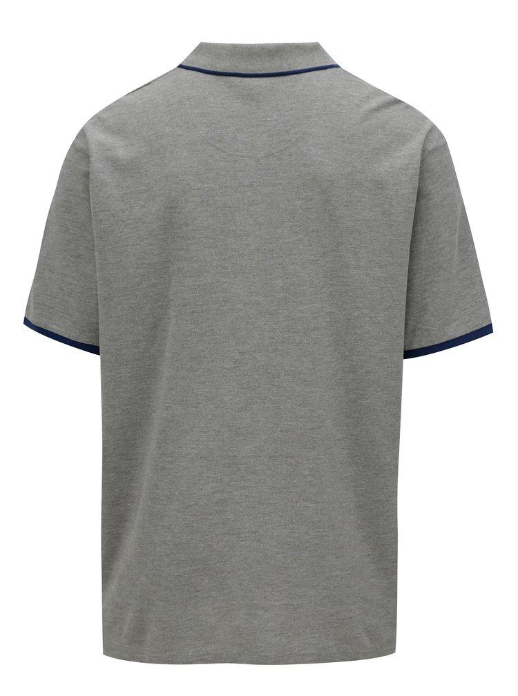 Šedé polo tričko s logem Jack & Jones Retro Jack