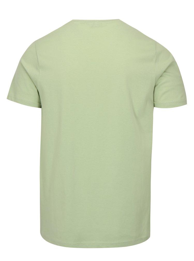 Světle zelené tričko s krátkým rukávem ONLY & SONS