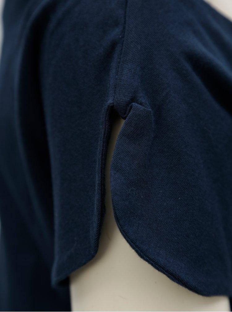 Tricou albastru inchis cu decolteu pe umeri SKFK Hamasei