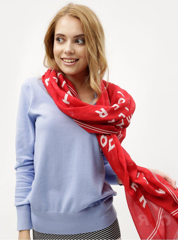 Červený vzorovaný šátek Tommy Hilfiger