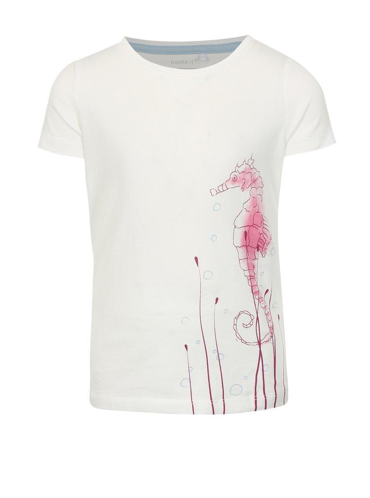 Bílé holčičí tričko s potiskem name it Vix