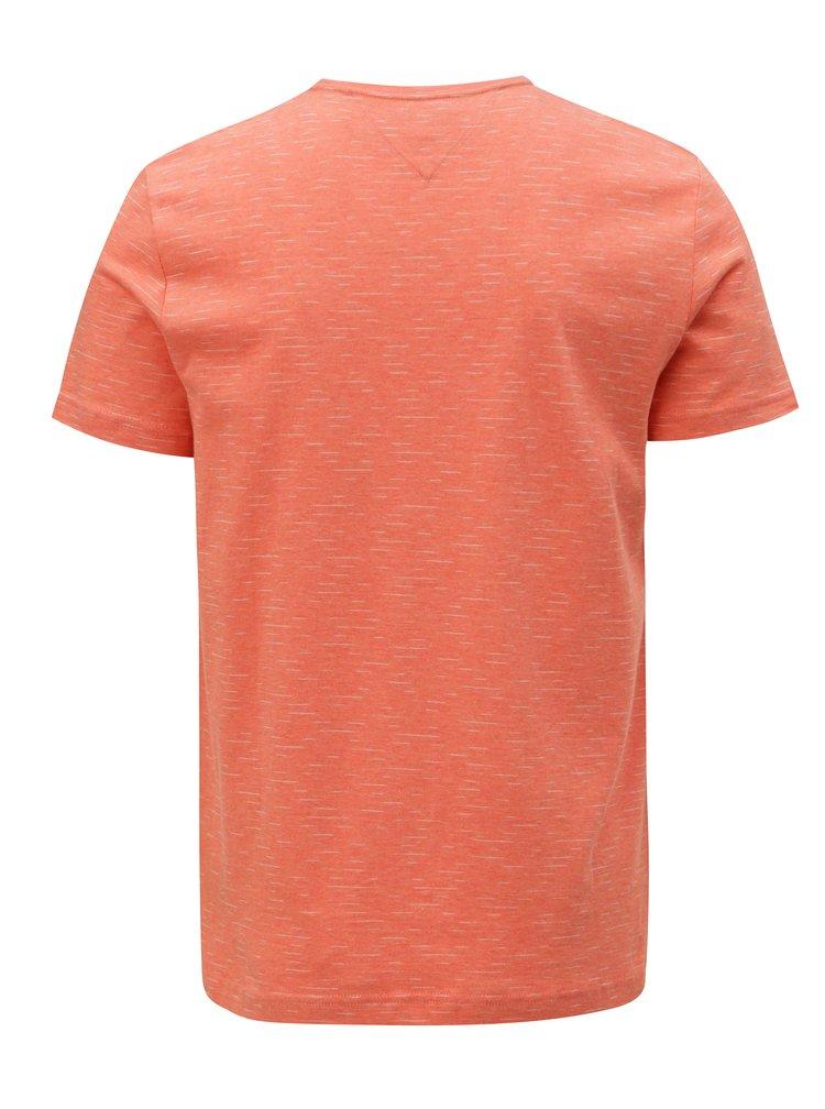 Oranžové žíhané pánské tričko Tommy Hilfiger