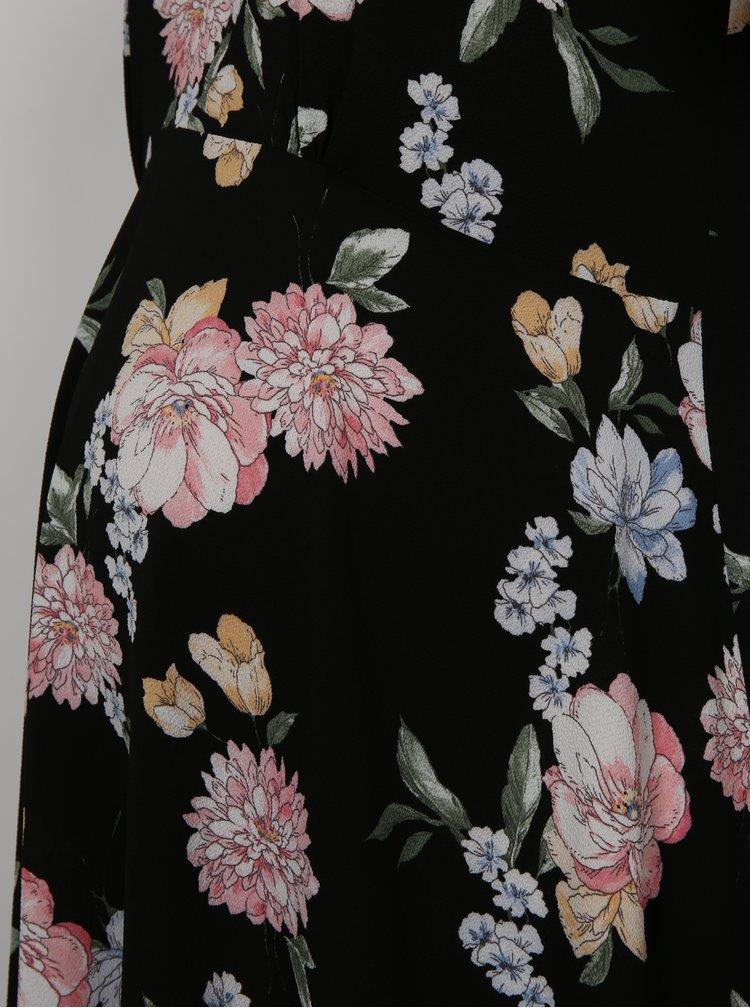 Rochie neagra cu model floral pentru femei insarcinate Dorothy Perkins Maternity