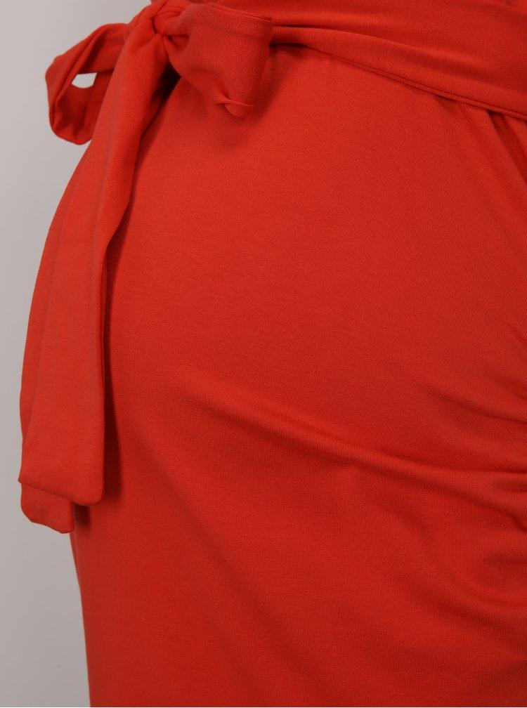 Červené těhotenské pouzdrové šaty Dorothy Perkins Maternity